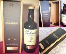 Ballantine's 30 Years Whiskey Empty Bottle with Original Wooden Box Suntory