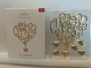 Our Anniversary You and Me  2019 Hallmark Ornament