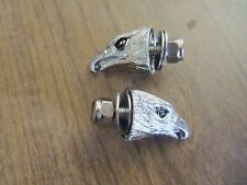 CUSTOM EAGLE HEAD BOLTS chrome  2 - 1/4-20 STUDS LICENSEPLATE WINDSHIELD FRAME