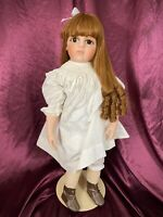 Antique Bru Jne 13 Reproduction Bebe Doll Composition Body Glass Eyes EUC 26""