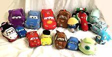 Disney Store Pixar Cars Stuffed Plush Set of 16 Doc Mater Sally Fillmore McQueen