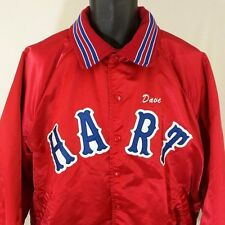 Hart High School Satin Bomber Jacket Vtg 80s 90s Insulated Made In USA Size 2XL