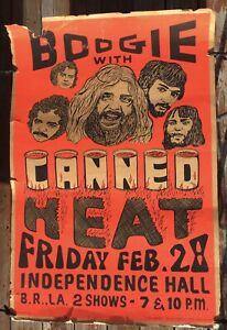 CANNED HEAT Original Concert Poster 1969 Baton Rouge LA Silk Screen Day-Glo