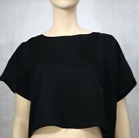 SOSUME SIZE 3 BLACK CROP TOP AS NEW