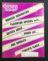 DOWN BEAT MAGAZINE - Mar 1 1973 - Peggy Lee / Ray Charles / Roberta Flack