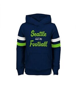 Seattle Seahawks Youth Girls Claim To Game Pullover Hooded Sweatshirt