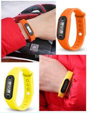 New Run Step Walk Watch Bracelet Pedometer Waterproof LCD Distance Wrist Band FR