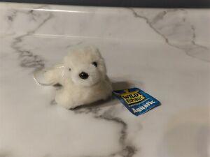 "NWT 5"" Wild Republic Aquatic Plush White SEAL Pup #SE04LPWH1 (*g5s)"