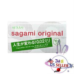 Sagami Original Ultra Thin 0.02mm 10 pieces Non Latex Condom Regular - US Seller