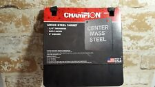 """Champion Center Mass Steel 3/8"""" 8"""" Square Ar500 Steel Target 44905 Usa Made New"""