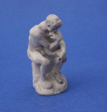 Miniature Dollhouse The Thinker Statue Gray Color 1:12 Scale New