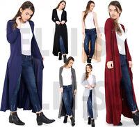 Ladies Plus Size Women Viscose Front Open Floaty Cardigan Flare Coat Maxi Top