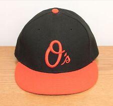 Orioles Baltimore O's Baseball Cap Size 7 1/2 New Era 59Fifty Black Orange Hat