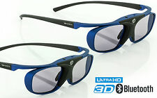 2x 3D Brille Hi-SHOCK Deep Haven für Bluetooth TV Sony Sharp Samsung Panasonic