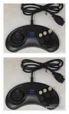 2 X CONTROLLERS FOR SEGA MEGA DRIVE 1 & 2  BRAND NEW 85cm LEAD - MEGADRIVE