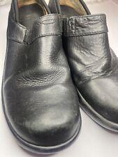Ariat Womens 8.5 B Santa Cruz Black Leather Non Slip Comfort Clogs 93905