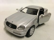 """1998 Mercedes Benz SLK Collection  5"""" DieCast 1:32 Pull Back NewRay Toys Silver"""