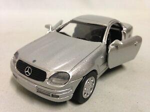 "1998 Mercedes Benz SLK Collection  5"" DieCast 1:32 NewRay Toys Silver"