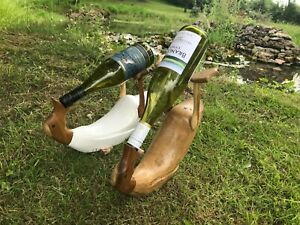 Drunk duck wine holder bamboo natural and white wine stand bar table centrepiece
