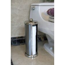 Toilet Paper Holder, Roll Canister Bathroom Storage Tissue, Brushed Satin Nickel