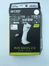 Cep Womens Pro+run  Compression Runnng Socks 2.0 Black/ Pink Size lI New