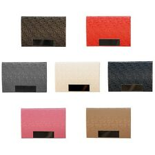 Business Card Holder Pocket Metal ID Leather Stainless Steel Case Credit Card