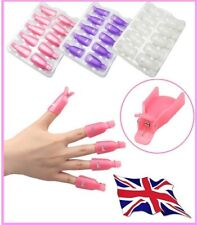 10 PCS NAIL ART UV GEL POLISH REMOVER SOAK OFF CLIPS CAPS WRAP PLASTIC ACCESSORY