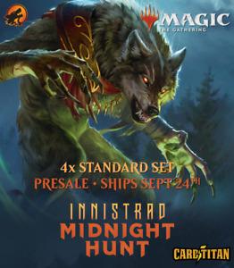 Magic MTG - Innistrad: Midnight Hunt - 4x Complete Set with Mythics - CARDTITAN