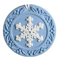 Snowflake  2001 Annual Jasperware Ornament by WEDGWOOD MADE IN UK NEW IN BOX