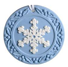 Snowflake 2001 Annual Jasperware Ornament by Wedgwood Made In Uk New In Box
