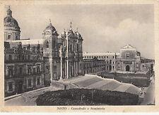 NG0566 - NOTO SIRACUSA - CATTEDRALE E SEMINARIO VIAGGIATA 1958
