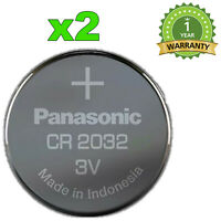 2x NEUF BATTERIE CR2032  PANASONIC PILE 3V CODE CR-2032EL DL2032 LITHIUM