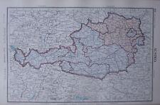 1952 Landkarte ~ Österreich Karnten Steiermark Salzburg Innsbruck Tirol