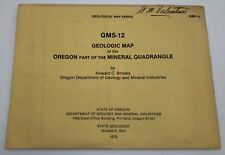 1979 Gms-12 Geological Map of the Oregon Part of the Mineral Quadrangle (Rf832)