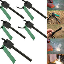 5x Survival Magnesium Flint Stone Fire Starter Emergency Lighter Kit Outdoor New