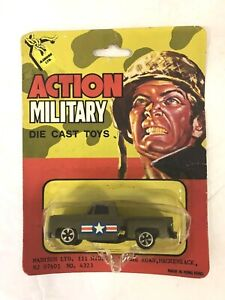VINTAGE 1970'S ACTION MILITARY DIE CAST TOYS TRUCK 1:64 NEW IN BLISTER PACK!