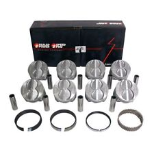 SPEED PRO Ford 289 302 Flat Top Hypereutectic Pistons+MOLY Rings 9.0:1 STD