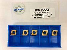 RDGTOOLS CCMT 09 MULTI PURPOSE GRADE TIPS / INSERTS / TURNING
