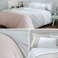 Pink Duvet Covers Grey 100% Cotton 200 Thread Count Quilt Cover Bedding Sets