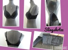 """36B"" *Barely There Invisible Look 4128* Black Lined Wire Free Full Coverage Bra"