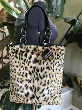 Leopard Faux Fur Women's Purse Tote  All Season Trend Seen In Fashion magazines