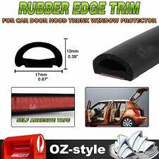 10mmx17mm  D-shape Hollow Rubber Seal Trim Car Doors Trunk Edge Weatherstrip 5M