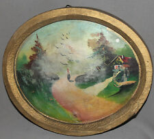 1958 IMPRESSIONIST LANDSCAPE OIL PAINTING SIGNED