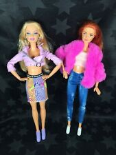Barbie Dolls - Red Head Made To Move & Blonde Made To Move Arms
