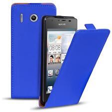 Flip Case Huawei Y300 Hülle Pu Leder Klapphülle Handy Tasche Cover Blau