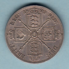 New listing Great Britain. 1890 Florin. Part Lustre. gVf/Ef