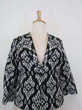 KASPER Black/White Print Blazer-Size 16W