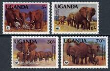 Uganda: 1983 WWF African Elephants (371-374) MNH