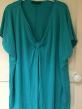 Aqua Turchese Donna codecodecode T-shirt Taglia 22