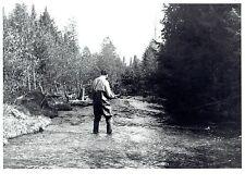 1968 Original Photo Angler fishing on the Green River in Antrim County Michigan